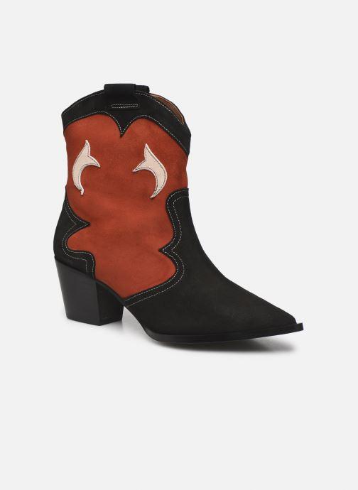 Bottines et boots Made by SARENZA Sartorial Folk Boots #1 Rouge vue droite
