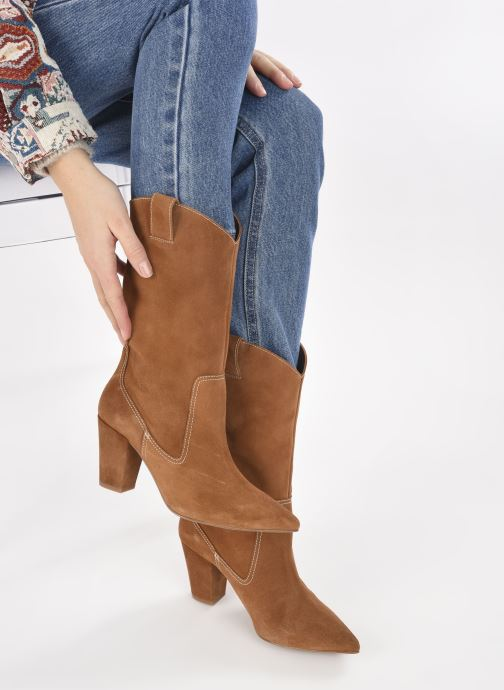 Stiefel Made by SARENZA Sartorial Folk Boots #3 braun ansicht von unten / tasche getragen