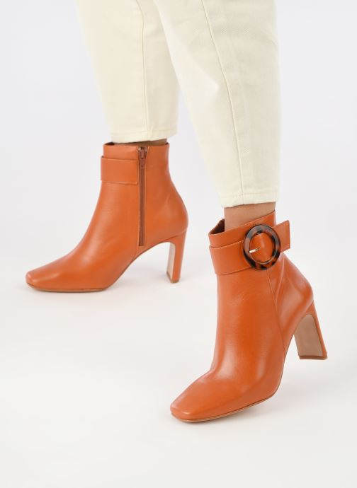 Stiefeletten & Boots Made by SARENZA Classic Mix Boots #3 braun ansicht von unten / tasche getragen