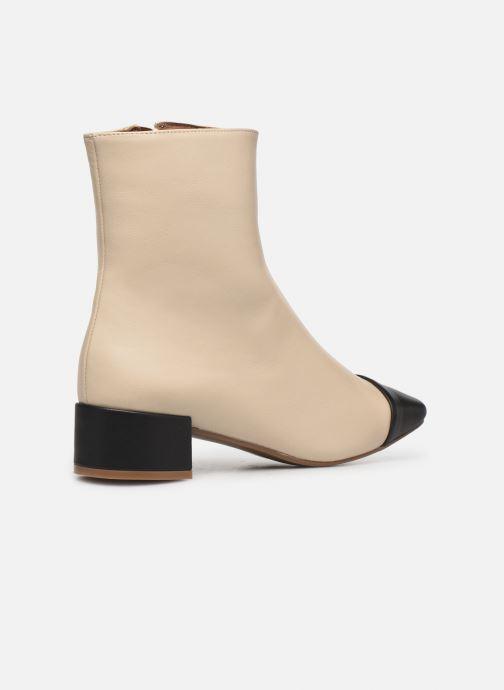 Bottines et boots Made by SARENZA Classic Mix Boots #8 Beige vue face
