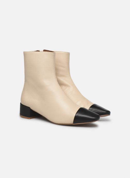 Botines  Made by SARENZA Classic Mix Boots #8 Beige vistra trasera