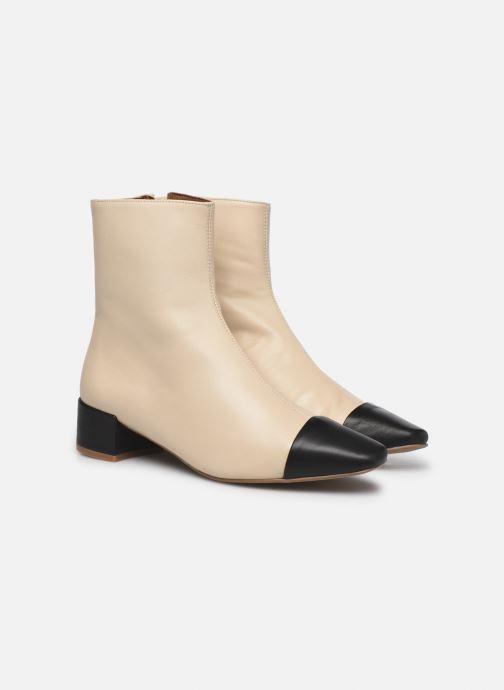 Bottines et boots Made by SARENZA Classic Mix Boots #8 Beige vue derrière