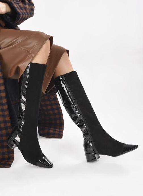 Stiefel Made by SARENZA Classic Mix Bottes #2 schwarz ansicht von unten / tasche getragen