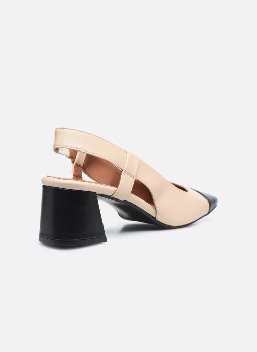 Zapatos de tacón Made by SARENZA Classic Mix Escarpins #4 Beige vista de frente