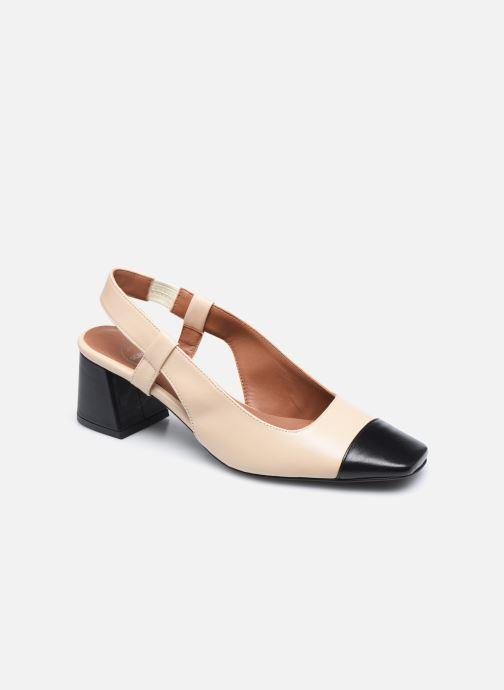 Zapatos de tacón Made by SARENZA Classic Mix Escarpins #4 Beige vista lateral derecha