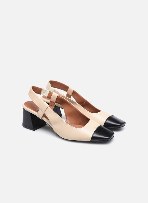 Zapatos de tacón Made by SARENZA Classic Mix Escarpins #4 Beige vistra trasera