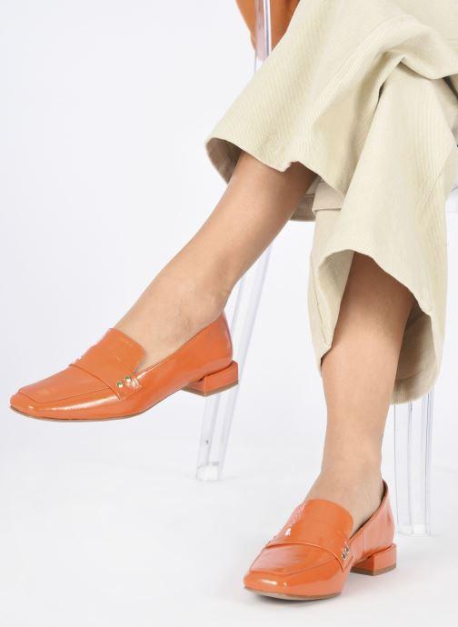 Slipper Made by SARENZA Classic Mix Mocassins #2 orange ansicht von unten / tasche getragen