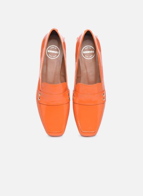 Slipper Made by SARENZA Classic Mix Mocassins #2 orange schuhe getragen