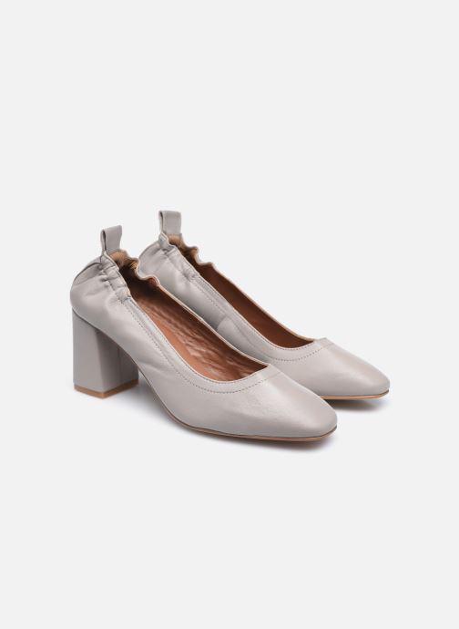 Zapatos de tacón Made by SARENZA Urban Smooth Escarpins #1 Gris vistra trasera