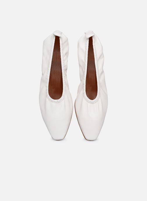 Ballerines Made by SARENZA Urban Smooth Ballerines #1 Blanc vue portées chaussures
