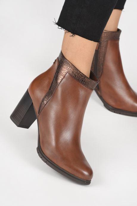 Bottines et boots Tamaris Wila Marron vue bas / vue portée sac
