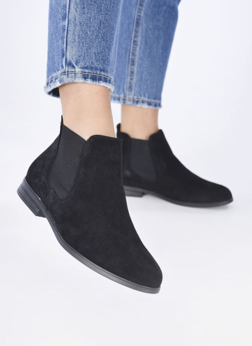 Bottines et boots Tamaris Nuama Noir vue bas / vue portée sac