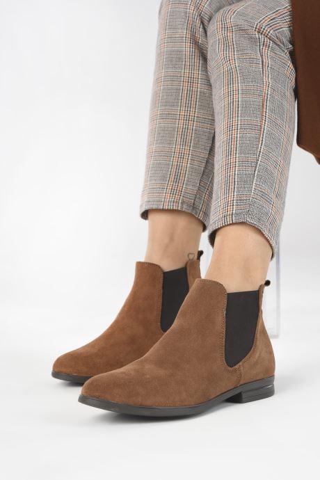 Bottines et boots Tamaris Nuama Marron vue bas / vue portée sac
