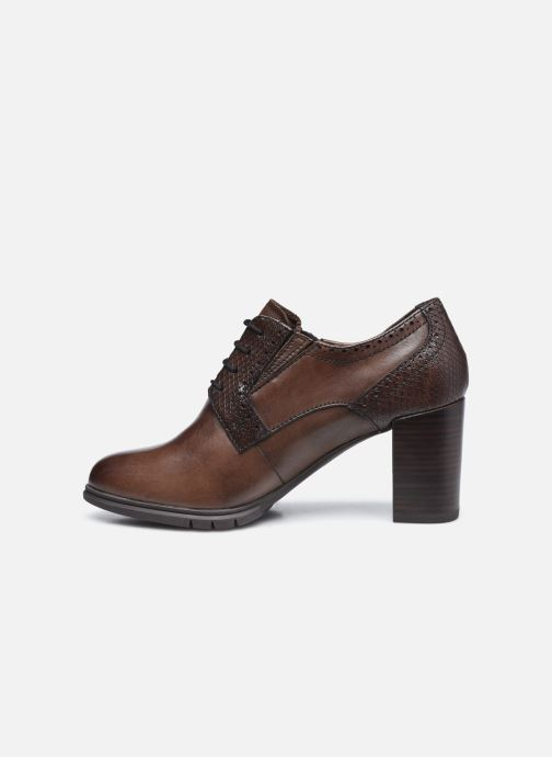 Zapatos con cordones Tamaris Kim Marrón vista de frente