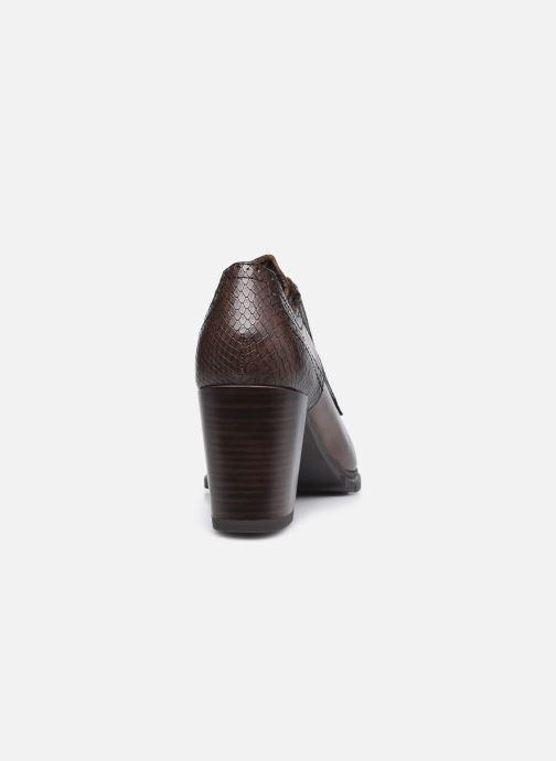 Zapatos con cordones Tamaris Kim Marrón vista lateral derecha