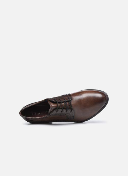 Zapatos con cordones Tamaris Kim Marrón vista lateral izquierda