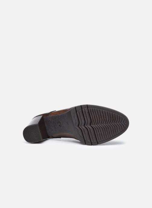 Chaussures à lacets Tamaris Kim Marron vue haut