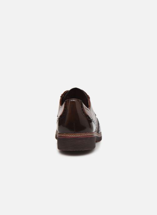 Chaussures à lacets Tamaris Yumi Marron vue droite