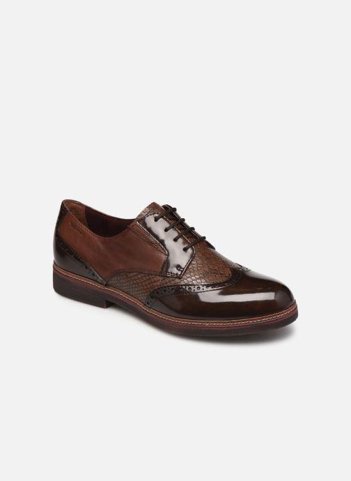 Chaussures à lacets Tamaris Yumi Marron vue détail/paire