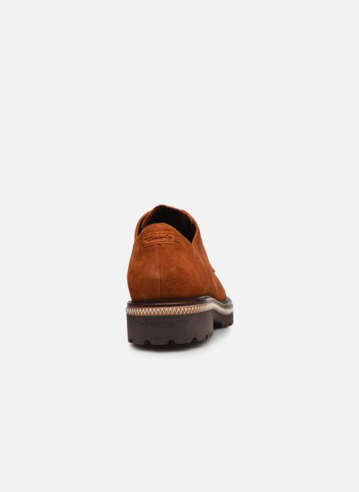 Zapatos con cordones Tamaris Lewia Naranja vista lateral derecha