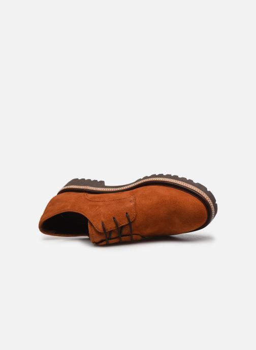 Zapatos con cordones Tamaris Lewia Naranja vista lateral izquierda
