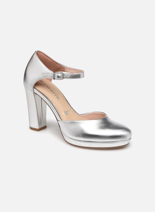 Zapatos de tacón Tamaris Tsipa Plateado vista de detalle / par