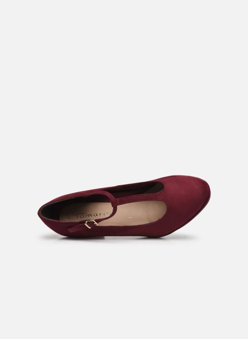 Zapatos de tacón Tamaris Anabella Vino vista lateral izquierda