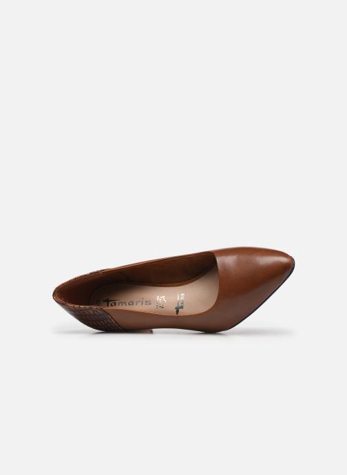 Zapatos de tacón Tamaris Clelie Marrón vista lateral izquierda