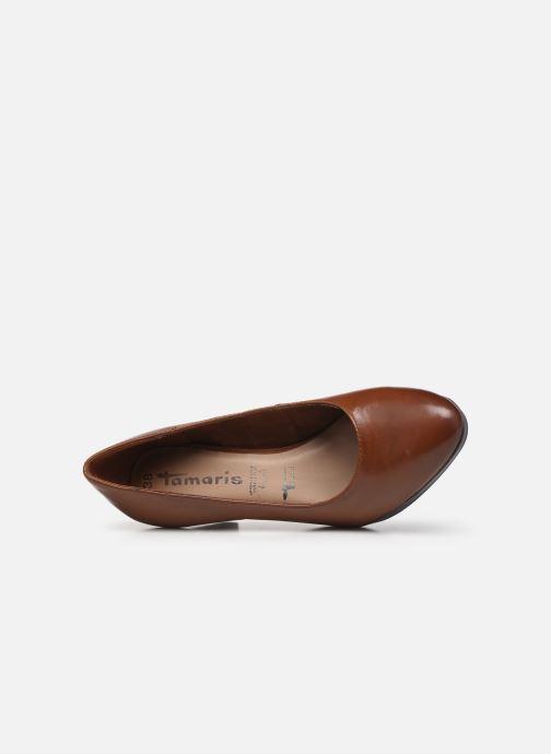 Zapatos de tacón Tamaris Shayla Marrón vista lateral izquierda
