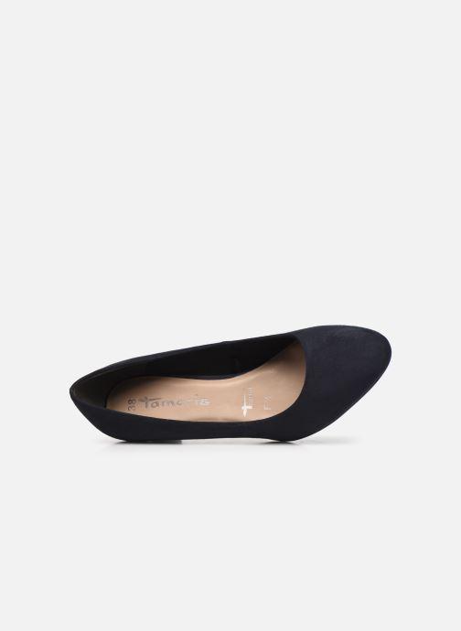 Zapatos de tacón Tamaris Georgia Azul vista lateral izquierda