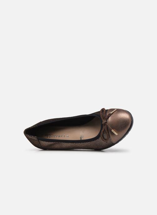 Zapatos de tacón Tamaris Lilym Oro y bronce vista lateral izquierda