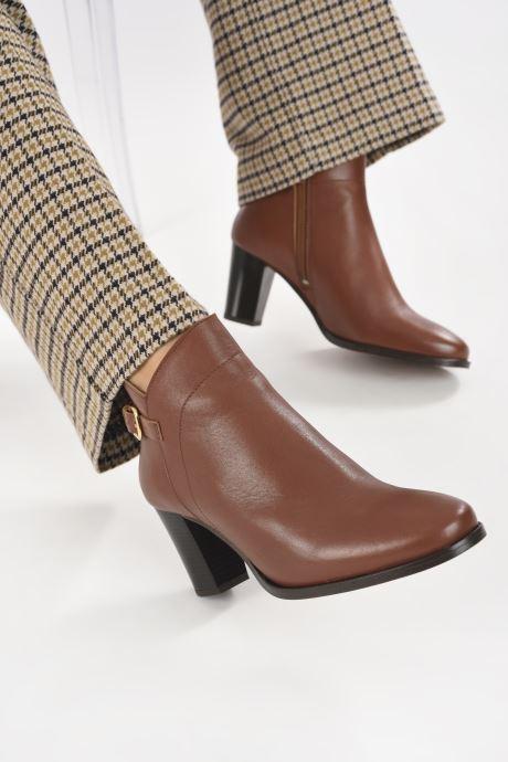 Bottines et boots Georgia Rose Cecilia Marron vue bas / vue portée sac