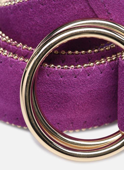 Cinture Pieces NILLA SUEDE LONG WAIST BELT Viola modello indossato