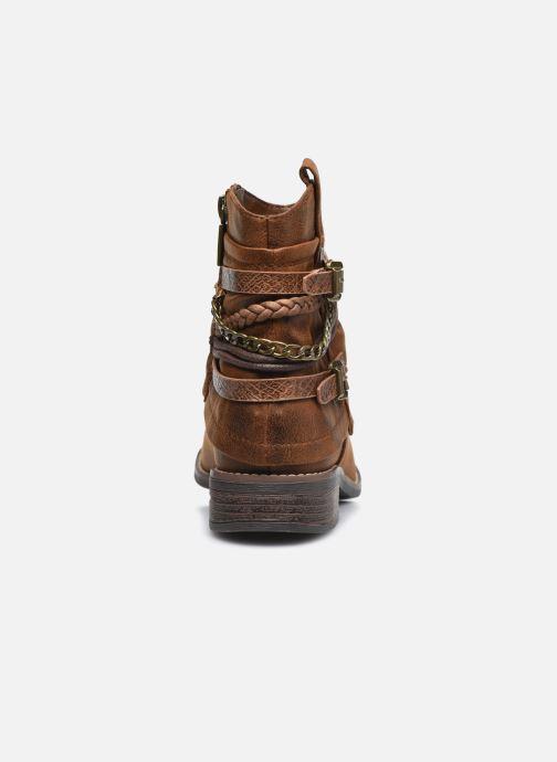 Bottines et boots MTNG 50265 Marron vue droite