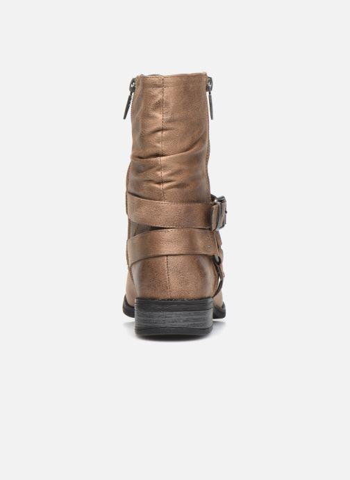 Bottines et boots MTNG 50202 Marron vue droite