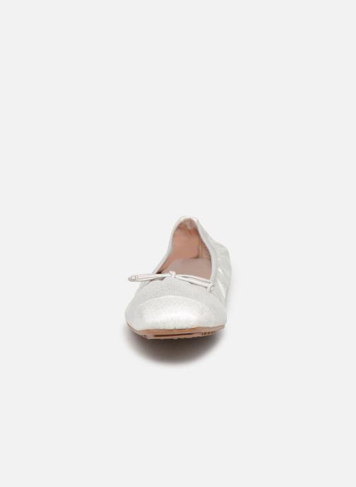 Ballerines LPB -LES PETITES BOMBES AMBROSIA Argent vue portées chaussures
