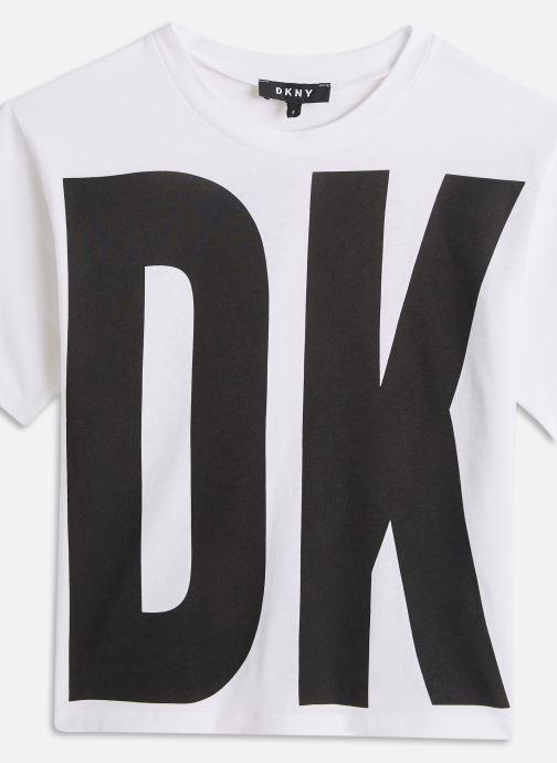 Vêtements DKNY D35Q84 Blanc vue portées chaussures