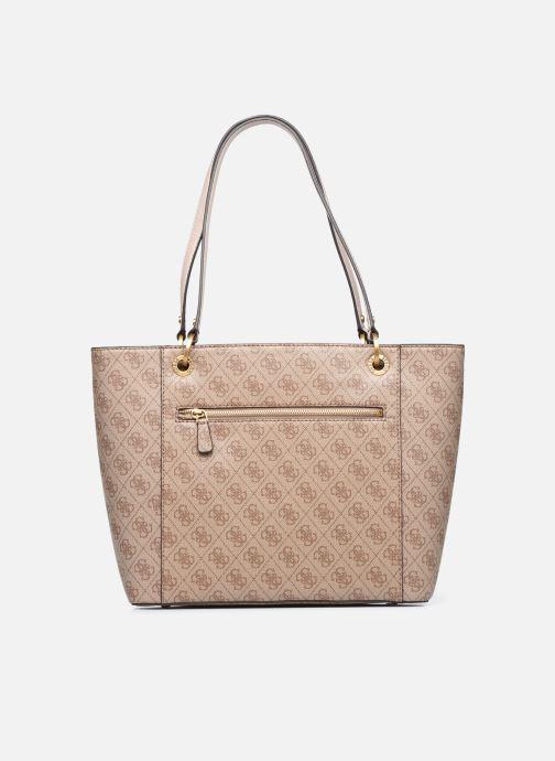 Handtaschen Guess NOELLE braun ansicht von vorne