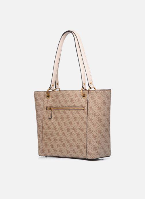 Handtaschen Guess NOELLE braun ansicht von rechts