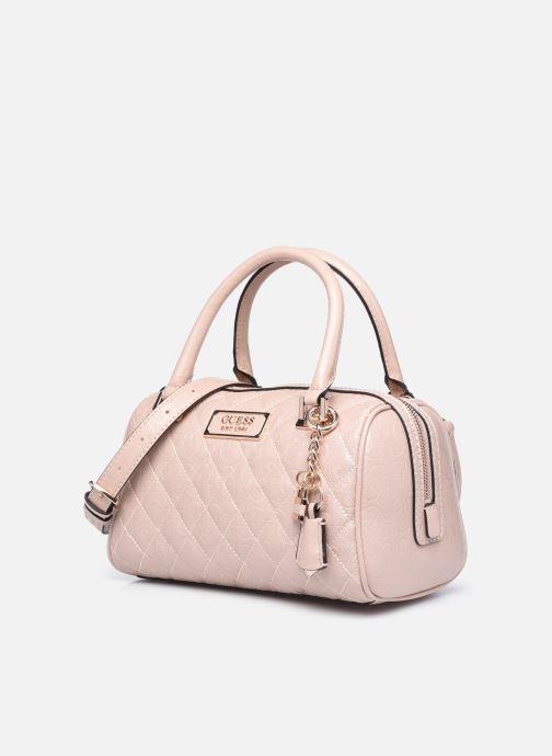 Bolsos de mano Guess LOLA SATCHEL Rosa vista del modelo