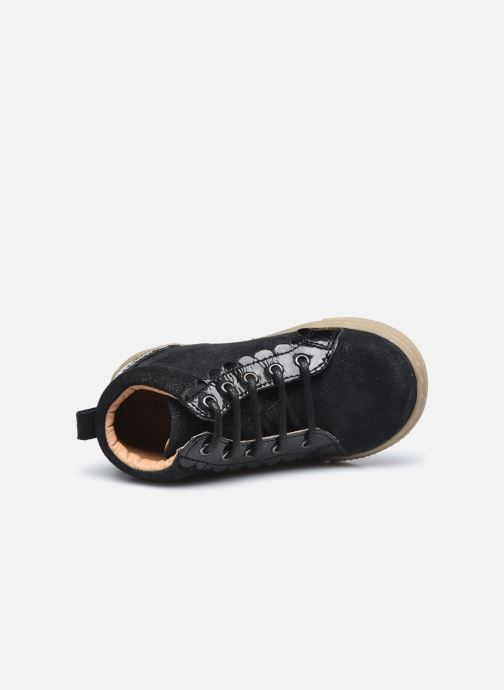 Botines  Vertbaudet BF - Basket ville cuir Negro vista lateral izquierda