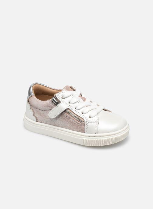 Boots en enkellaarsjes Vertbaudet BF - Basket ville cuir Roze detail