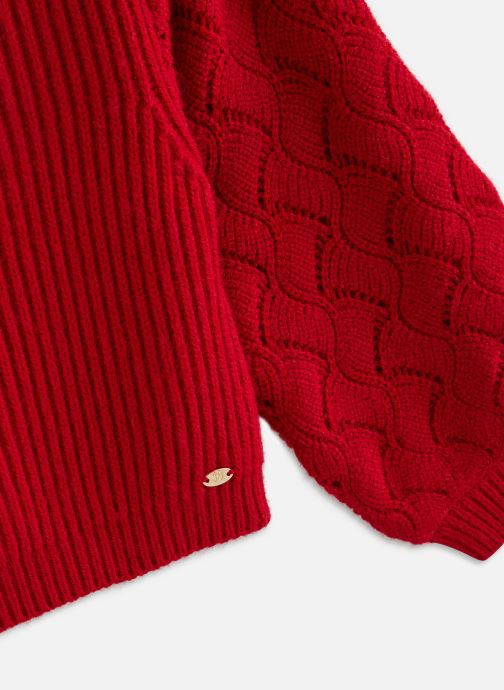 Vêtements 3 Pommes Pull 3R18044 Rouge vue portées chaussures