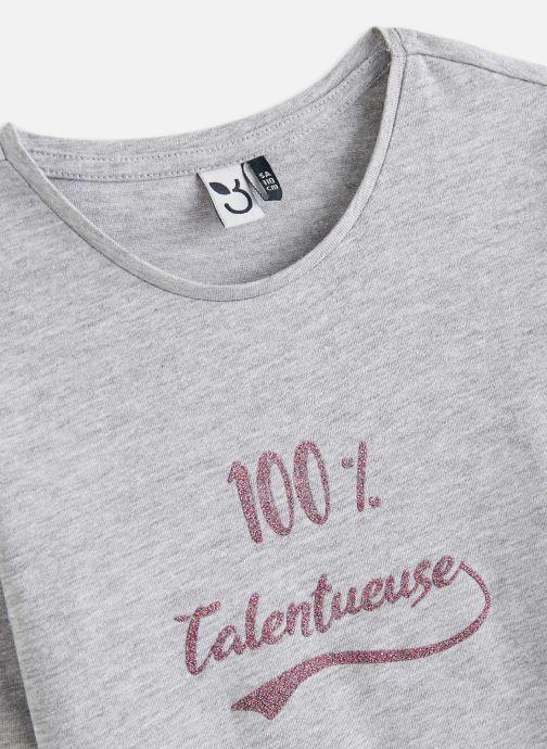 Vêtements 3 Pommes Tee shirt 3R10904 Gris vue portées chaussures