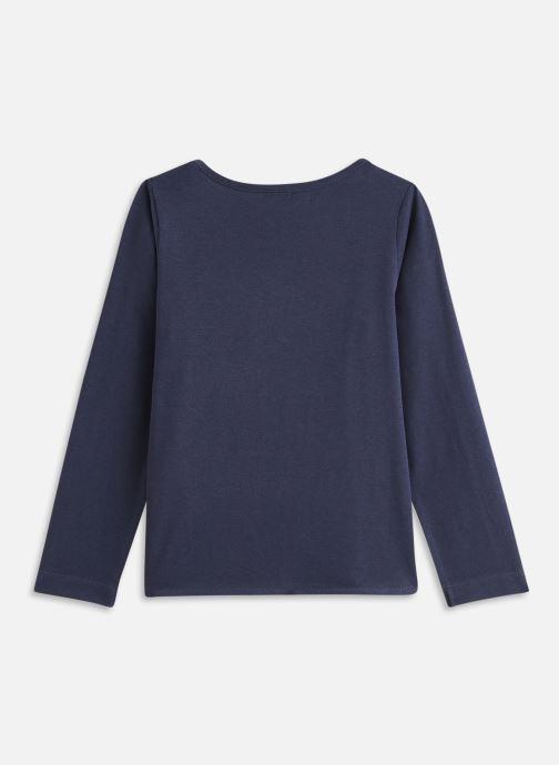 Vêtements 3 Pommes Tee shirt 3R10034 Bleu vue bas / vue portée sac