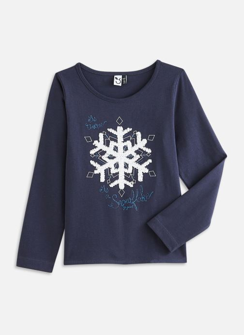 Vêtements 3 Pommes Tee shirt 3R10034 Bleu vue détail/paire