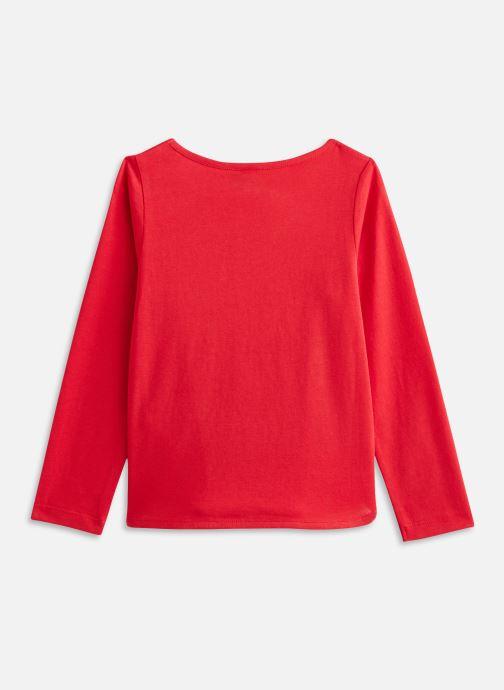 Vêtements 3 Pommes Tee shirt 3R10034 Rouge vue bas / vue portée sac
