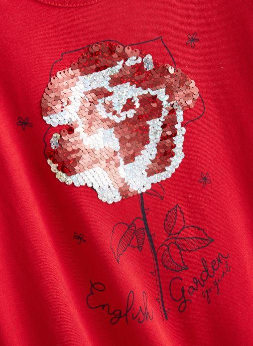 Vêtements 3 Pommes Tee shirt 3R10034 Rouge vue portées chaussures