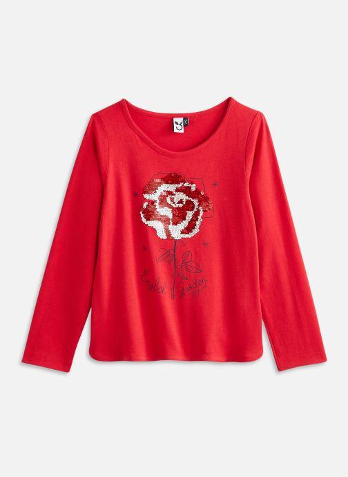 Vêtements 3 Pommes Tee shirt 3R10034 Rouge vue détail/paire
