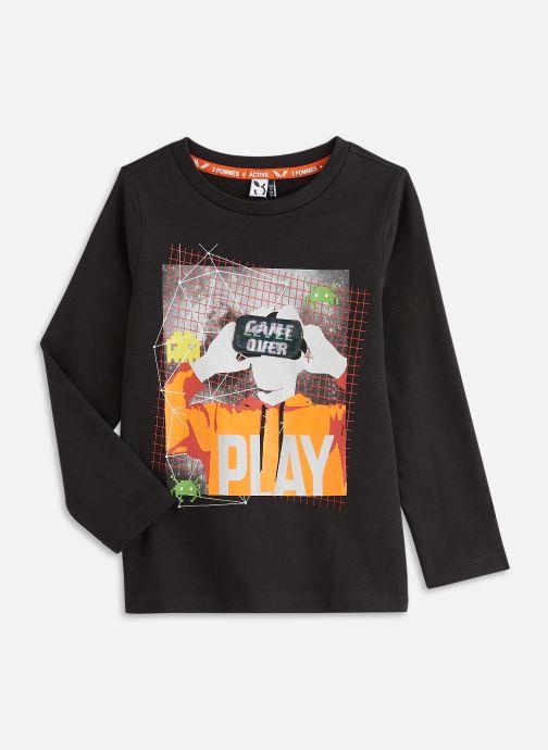 Kleding 3 Pommes Tee shirt 3R10825 Zwart detail